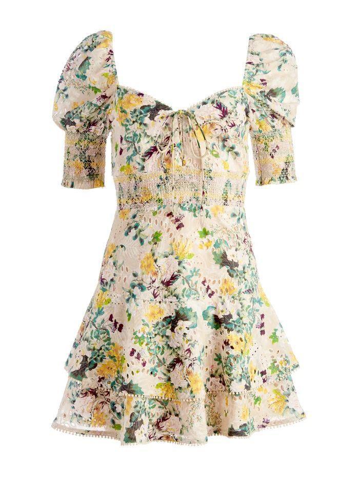 Crawford Floral Mini Dress Item # CC108P90545P