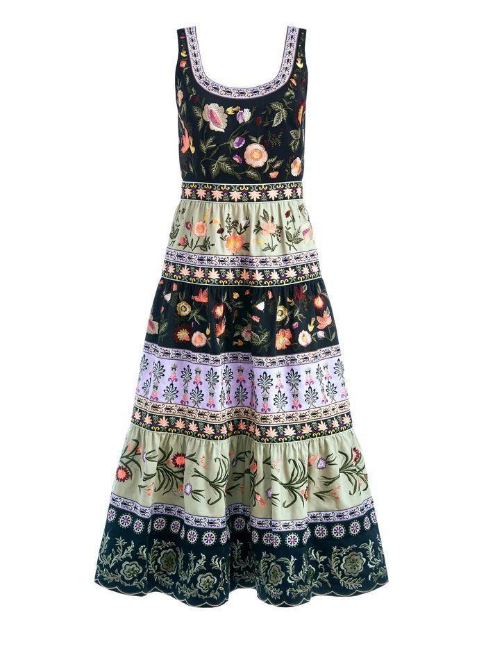 Arya Embroidered Midi Dress Item # CC108D13525