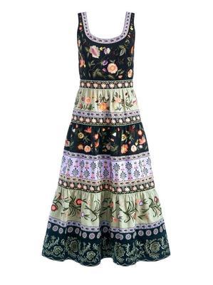 Arya Embroidered Midi Dress