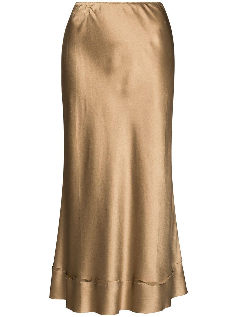 Stella Silk Satin Skirt Item # M2103SK404