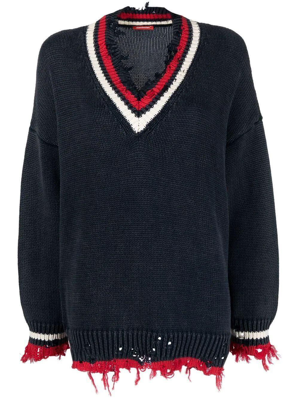 Oversized Tennis Sweater Item # DSWWY025-Y005A