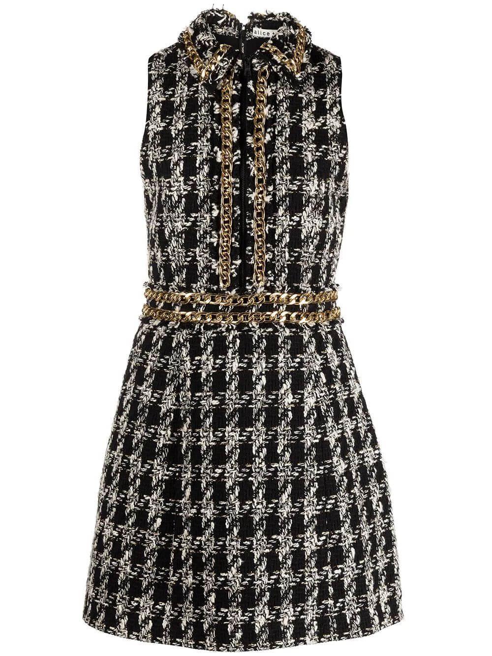 Ellis Chain Trim Mini Dress Item # CC109O07520