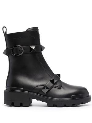 Roman Stud Combat Boots