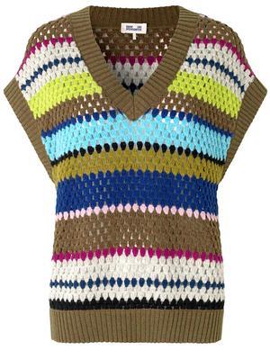 Coletta Striped Sweater Vest