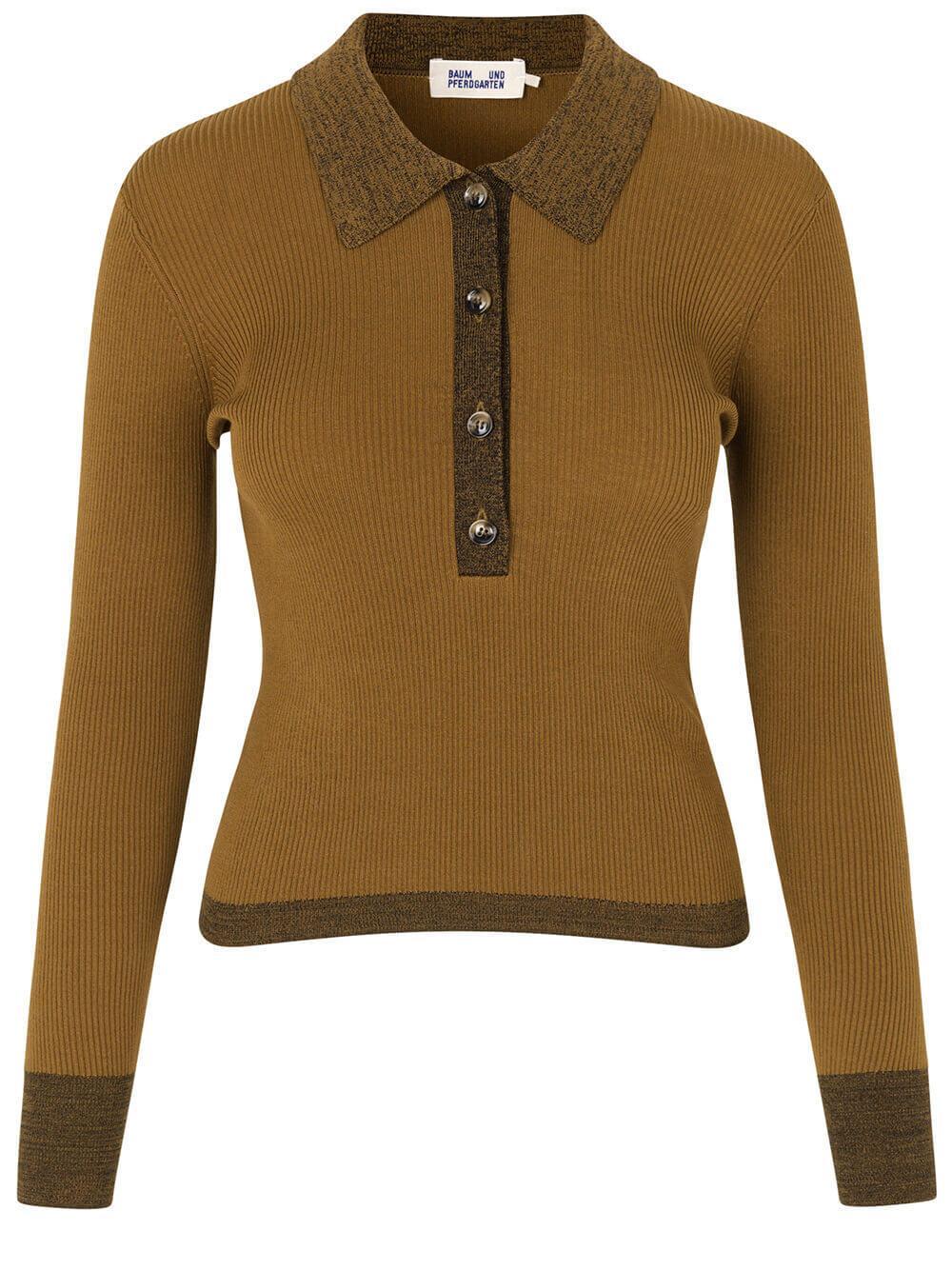 Clariette Knit Polo Top Item # 21965