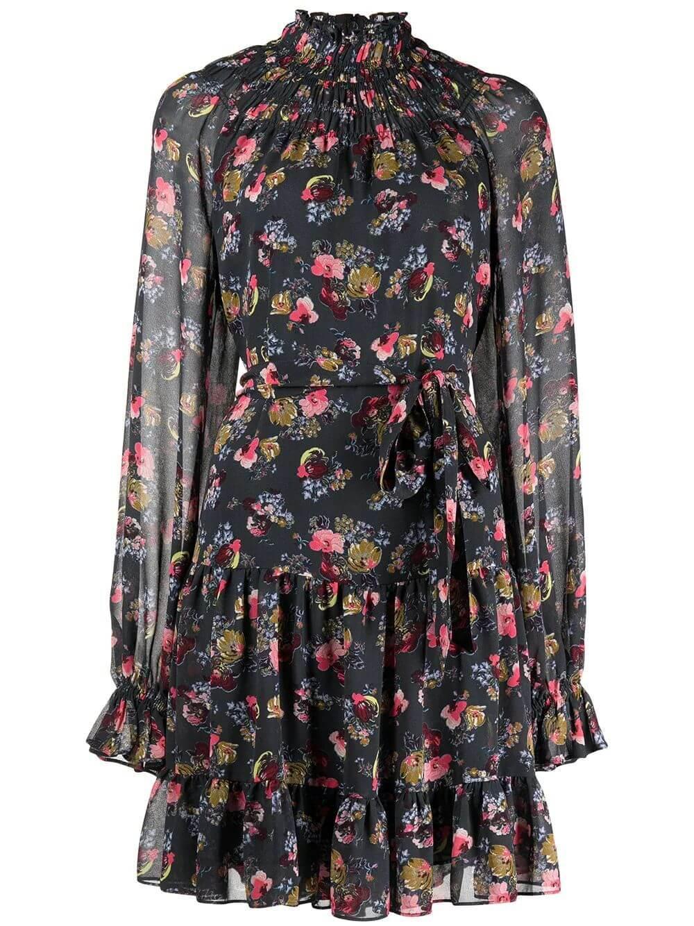 Daija Printed Short Mock Neck Dress Item # ZD14584777Z
