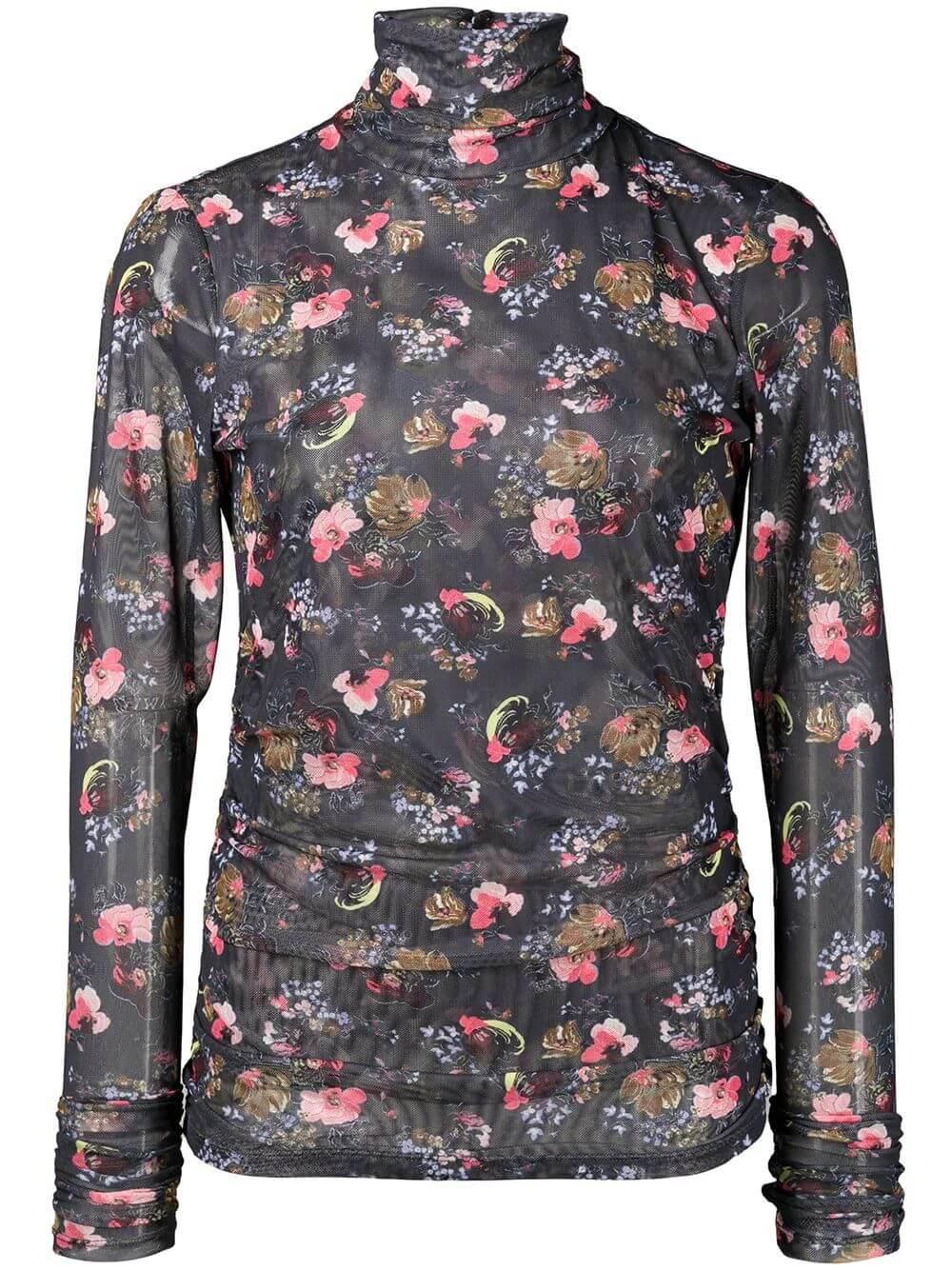 Mini Bouquet Shirred Turtleneck Item # ZT4454691Z