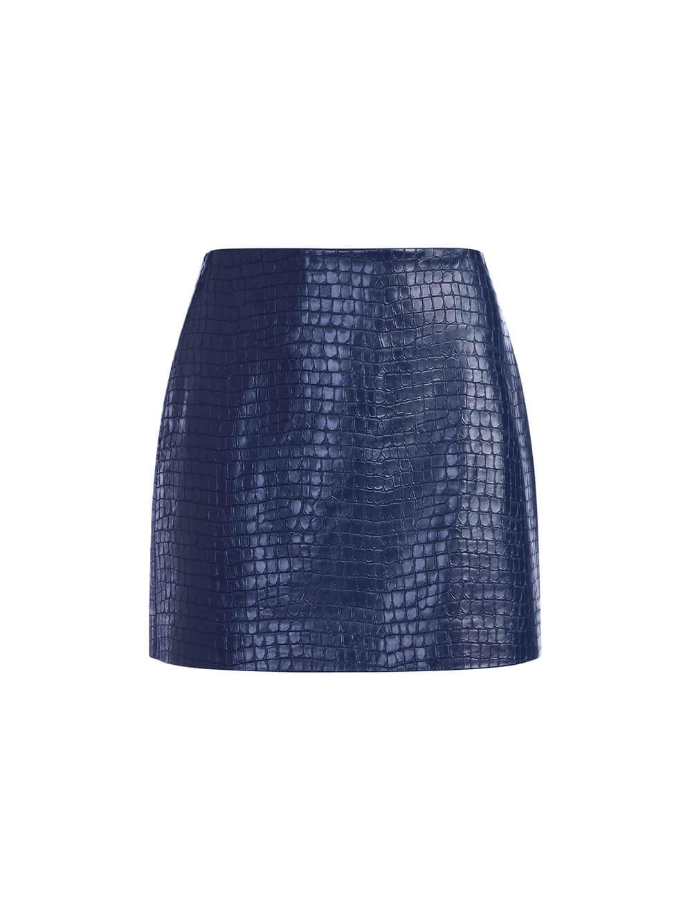 Elana Vegan Leather Mini Skirt Item # CC109I41310
