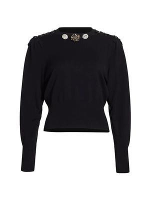 Kacey Embellished Crew Neck Sweater