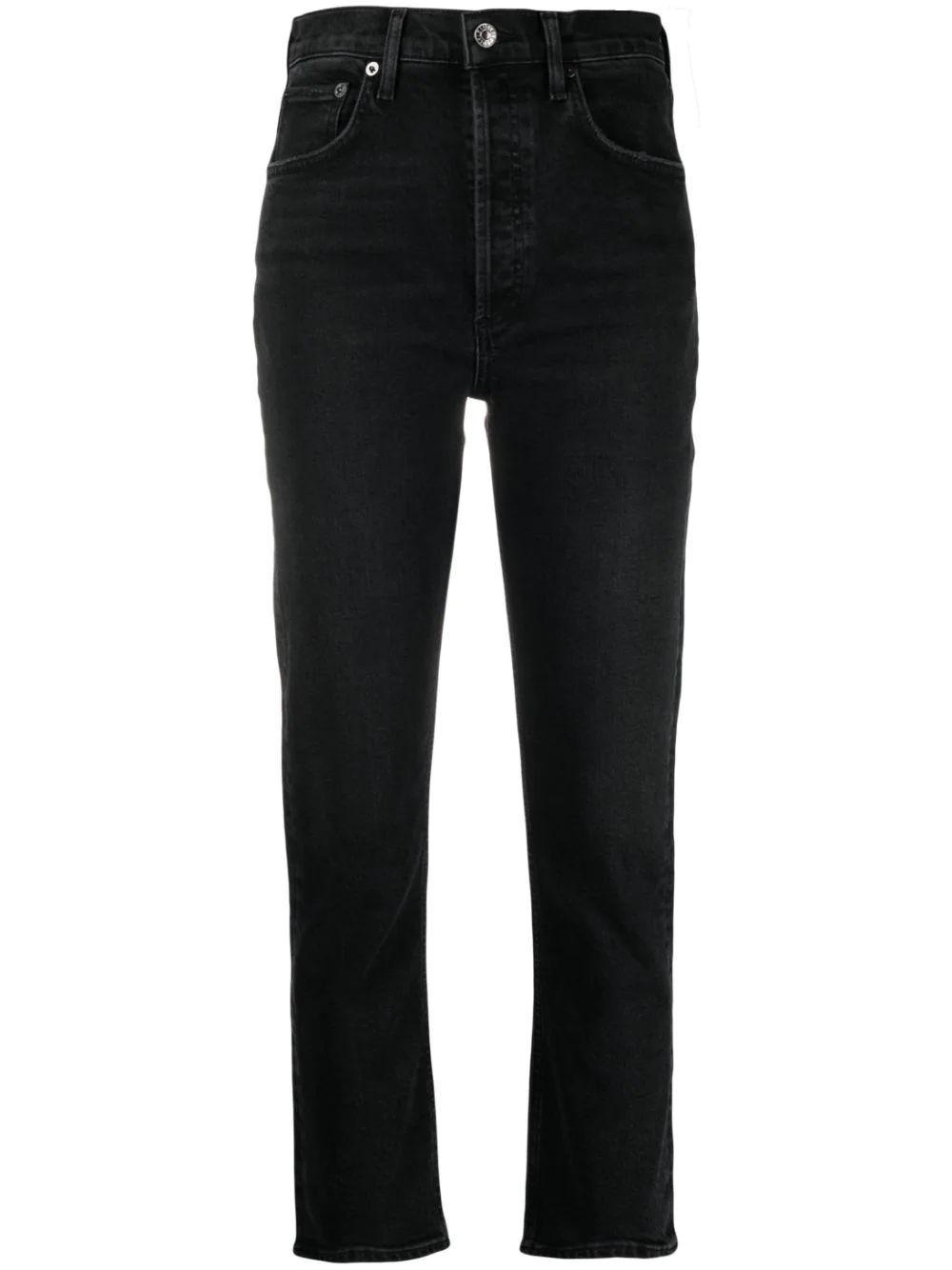 Riley Straight Leg Cropped Jean Item # A056-1286