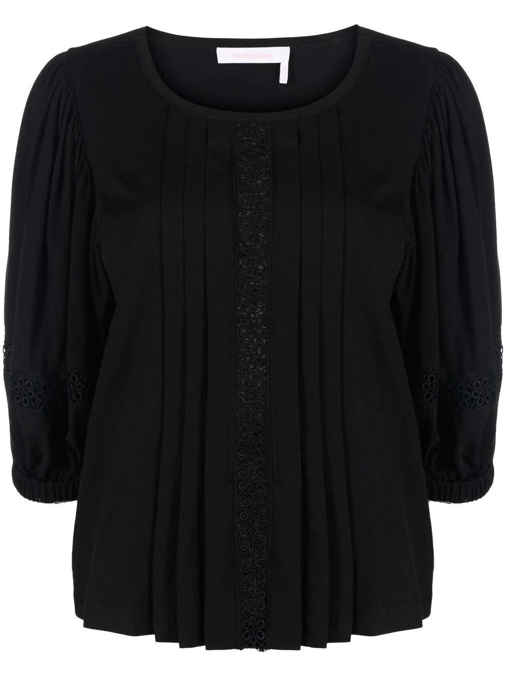 Cotton Jersey Embellished Tee Item # CHS21WJH16