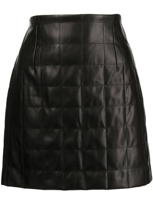 Sonia Quilted Vegan Leather Skirt