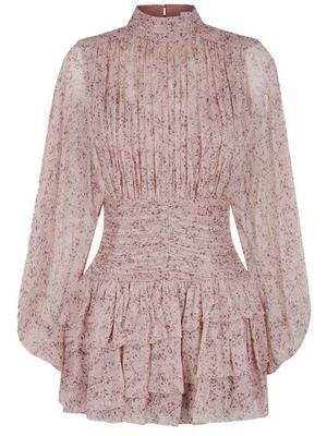 Paulette Ruched Mini Dress