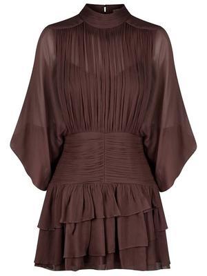 Olympia Ruched Mini Dress