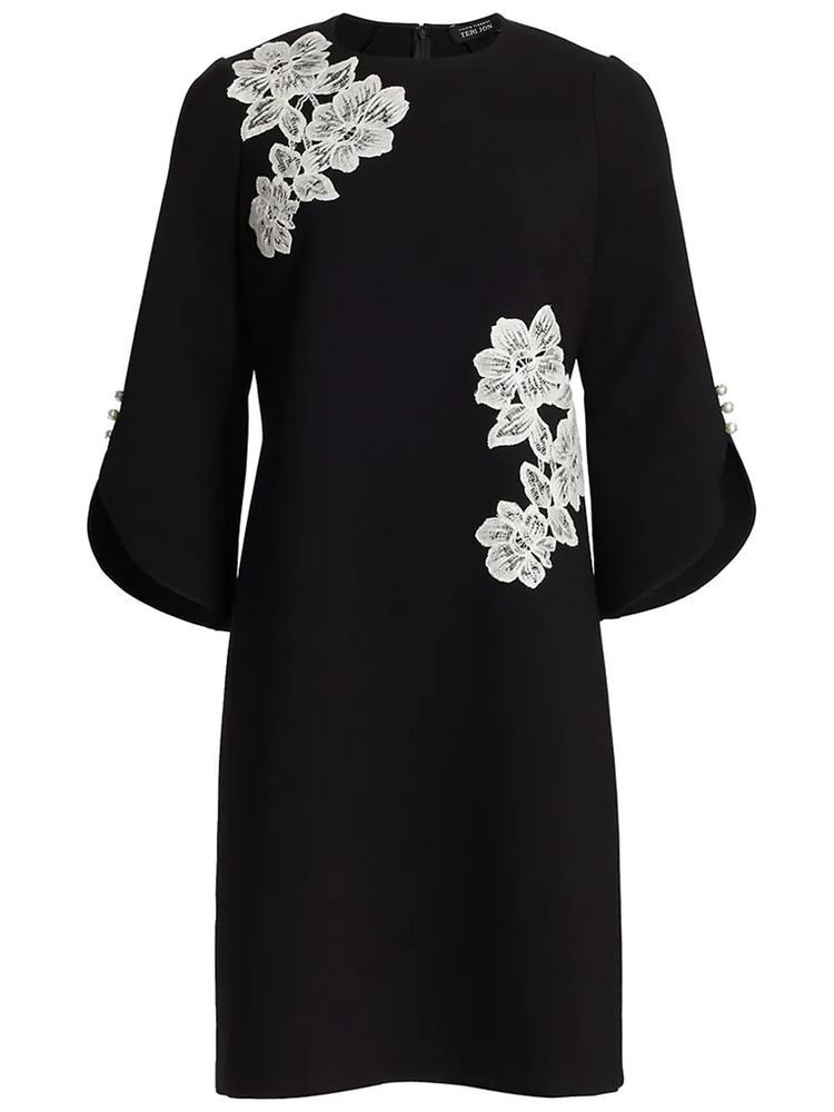 Floral Applique Dress Item # 21304