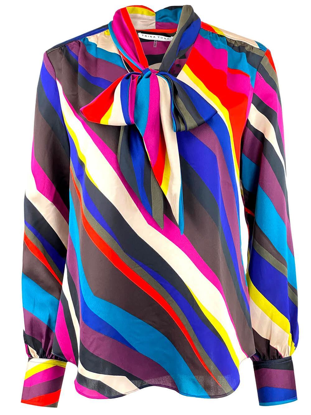 Demming Striped Blouse Item # 2108130PG1