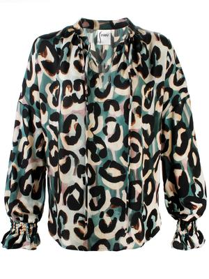 Morrisey Abstract Jungle Print Blouse