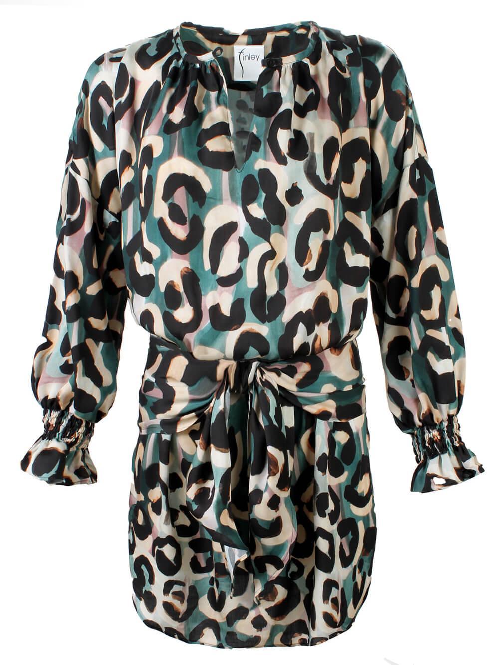 Mazy Abstract Jungle Print Dress Item # 3276081J