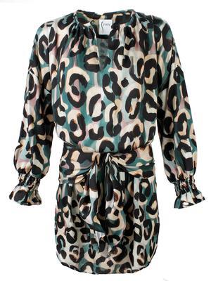 Mazy Abstract Jungle Print Dress