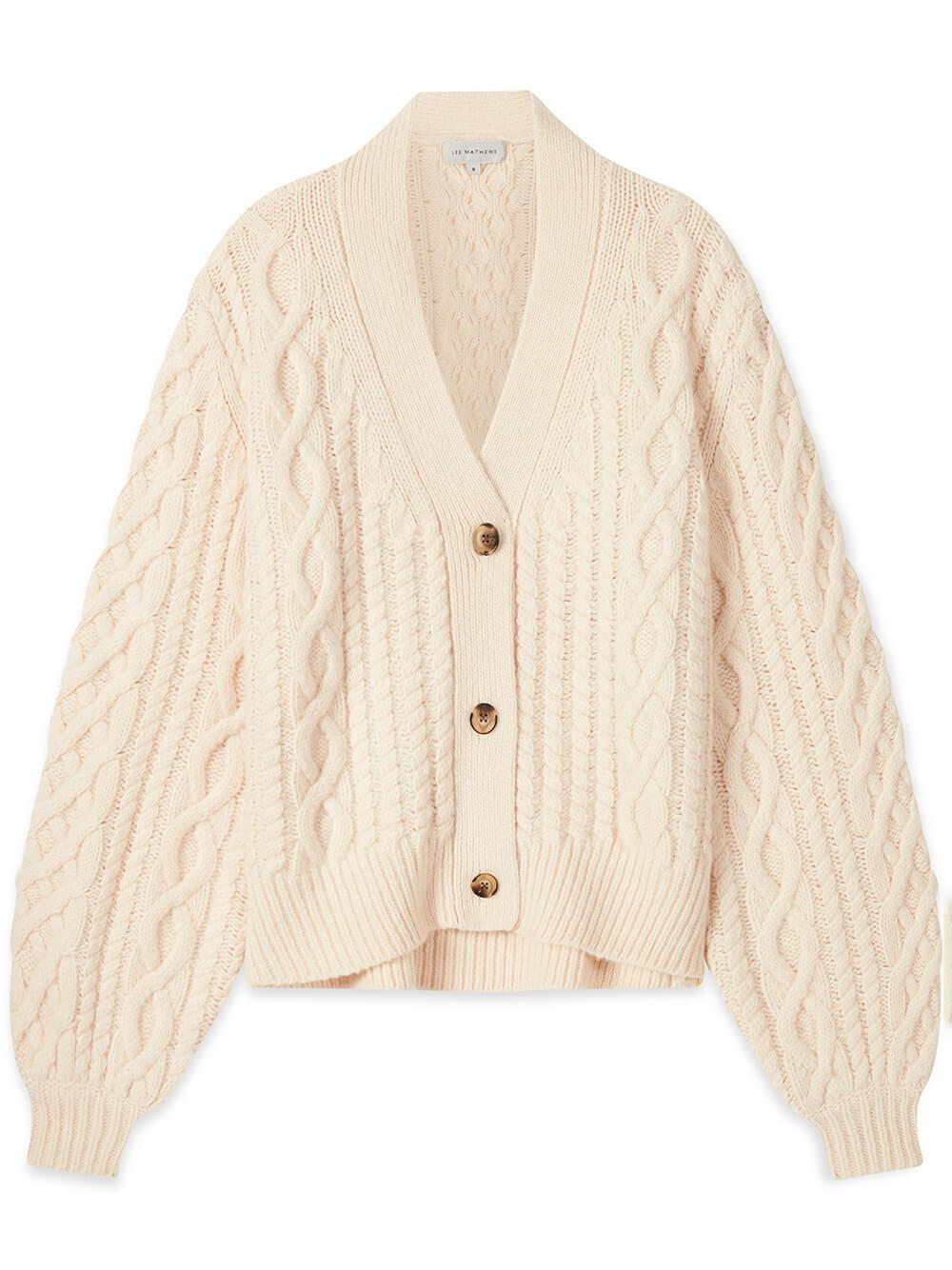 Standford Cable Knit Cardigan Item # M2103KN030