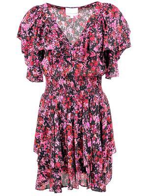 Finley Ruffle Printed Mini Dress