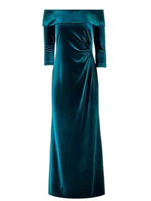 Off the Shoulder Velvet Gown