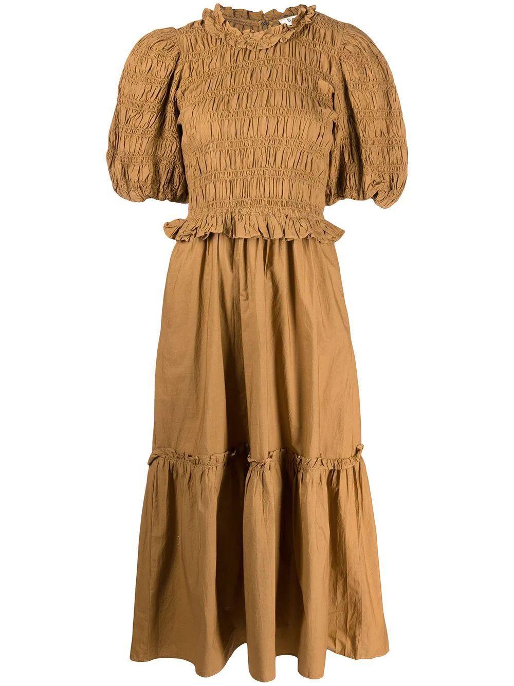 Rene Cotton Puff Sleeve Dress Item # AW21-049