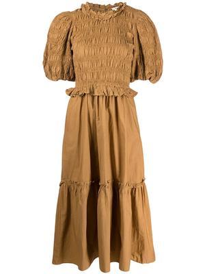 Rene Cotton Puff Sleeve Dress