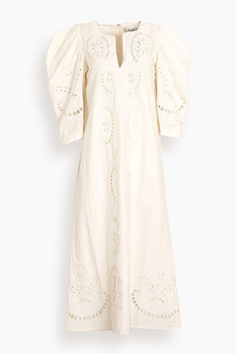 Santos Eyelet Dress Item # AW21-058