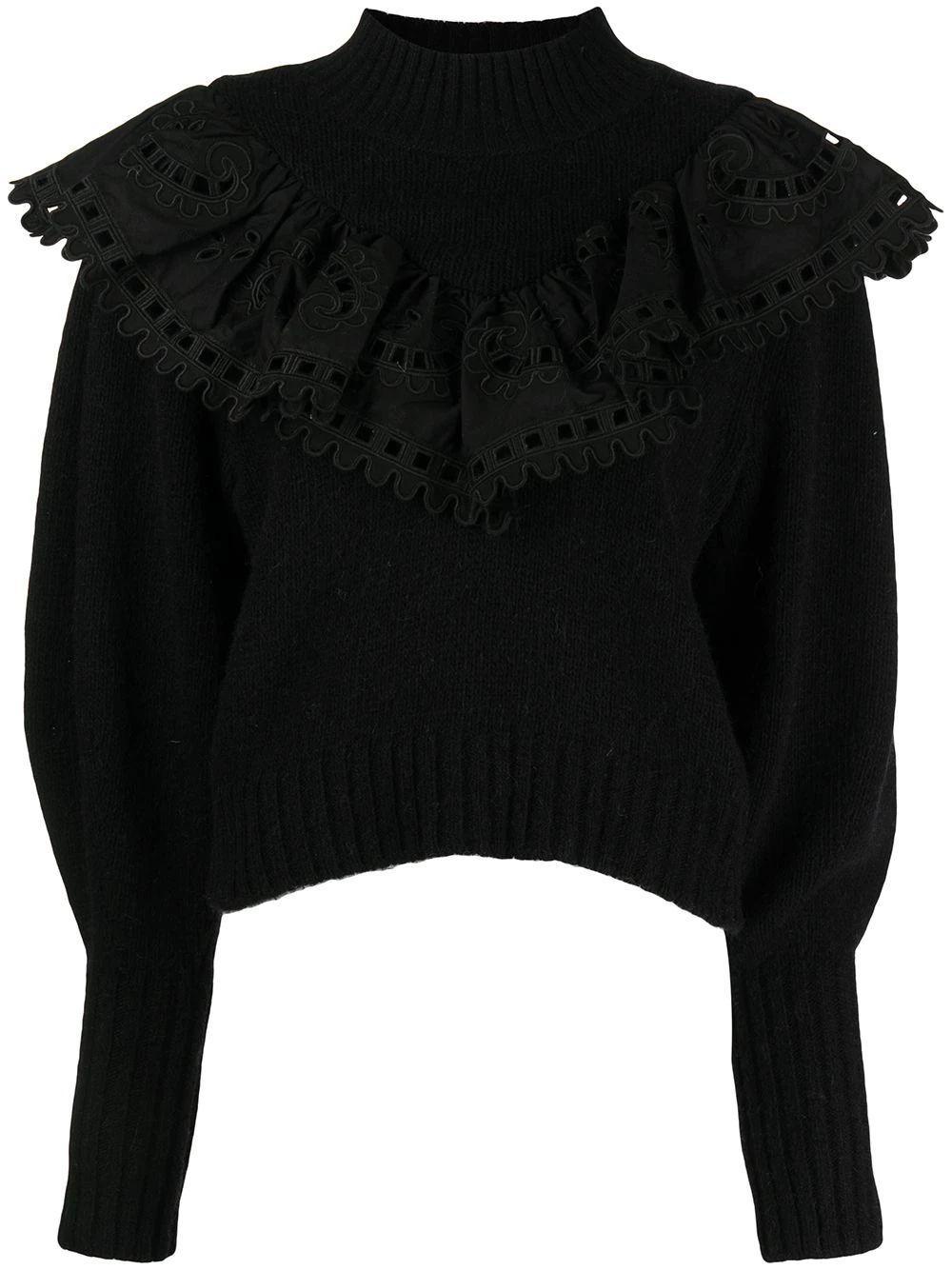 Santos Eyelet Combo Sweater Item # AW21-056