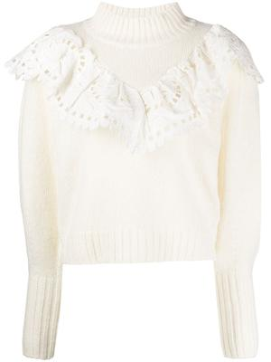 Santos Eyelet Combo Sweater