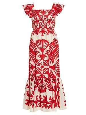 Henrietta Print Smocked Dress