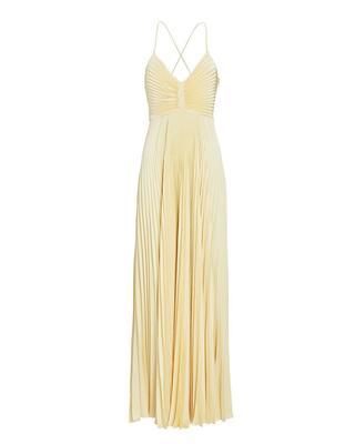 Aries Pleated Maxi Dress
