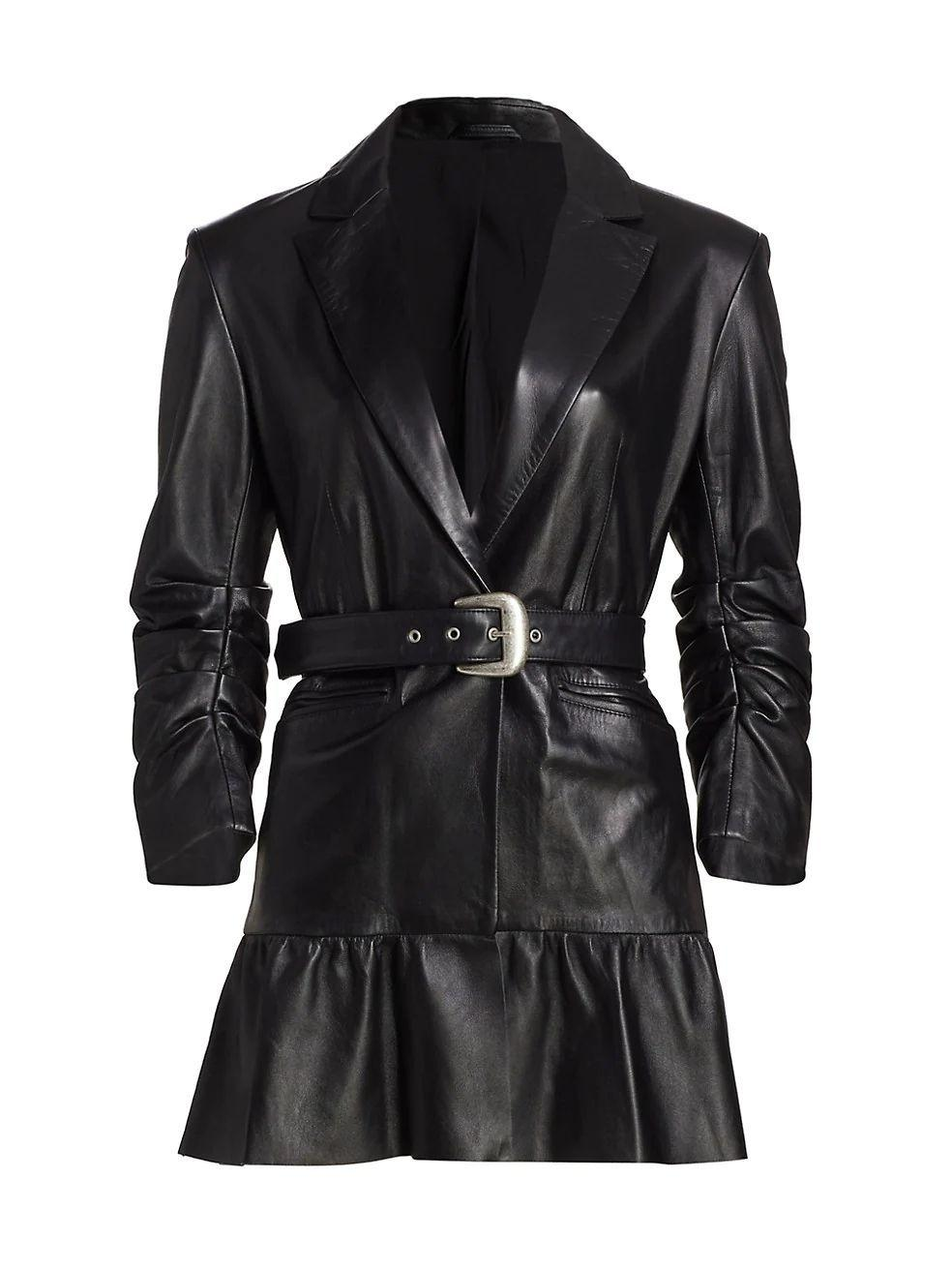 Natasha Tiered Belted Waist Jacket Item # ZJ4094412Z
