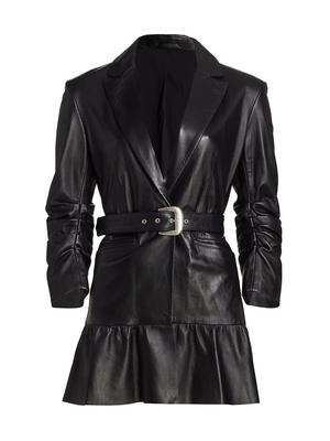 Natasha Tiered Belted Waist Jacket