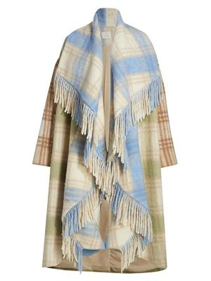 Lita Plaid Blanket Coat