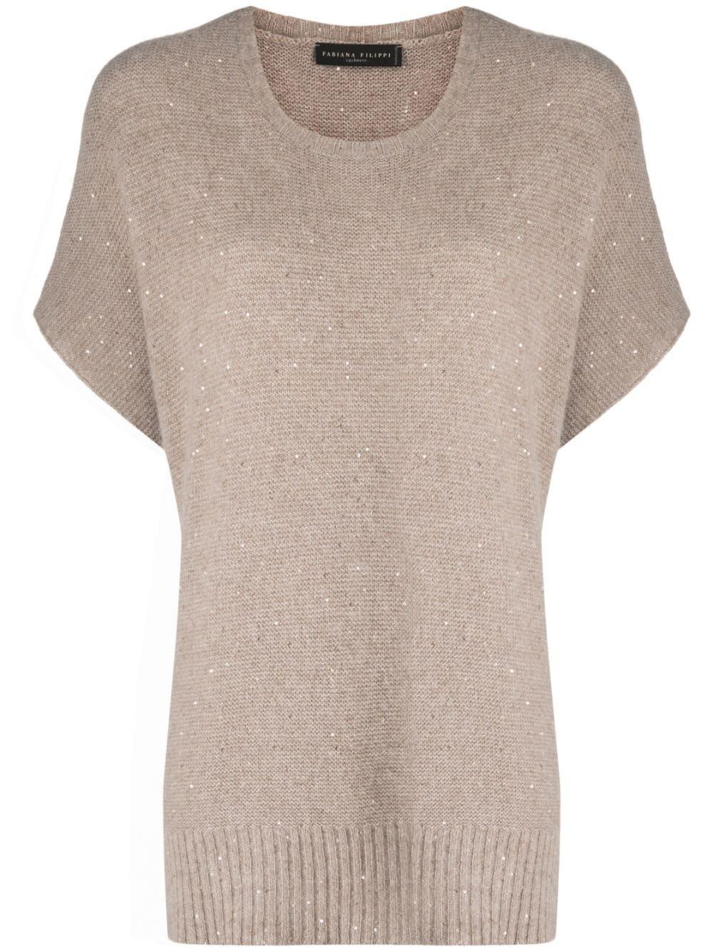Sequin Knit Sweater Item # MAD221B695