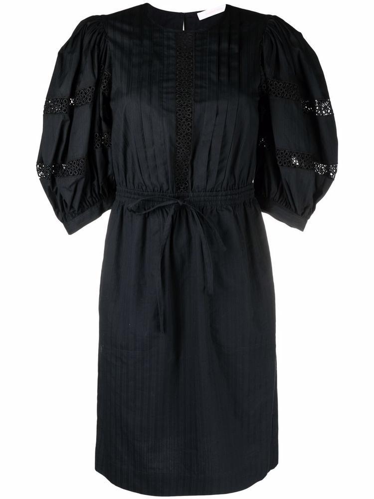 Puff Sleeve Cotton Poplin Dress Item # CHS21WRO03