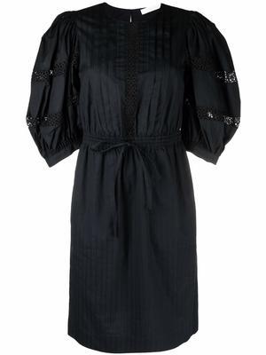 Puff Sleeve Cotton Poplin Dress