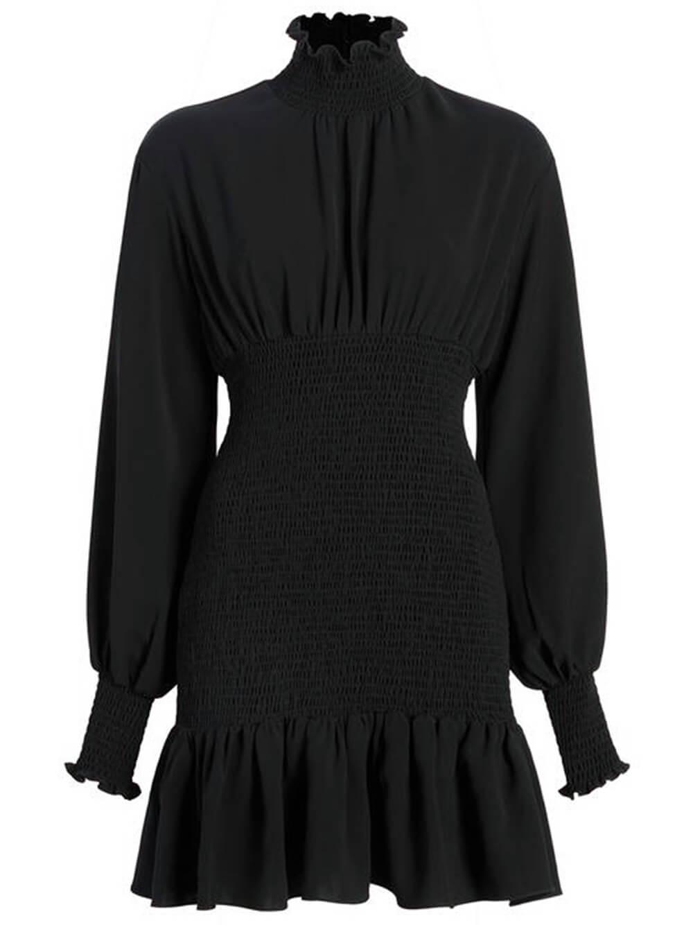Kara Ruffle Turtleneck Dress Item # ZD14381319Z
