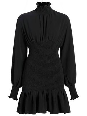 Kara Ruffle Turtleneck Dress