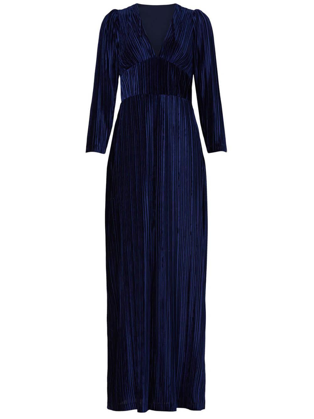 Celsey Pleated Velvet Gown Item # 2359322