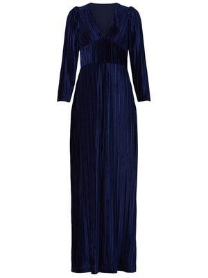 Celsey Pleated Velvet Gown