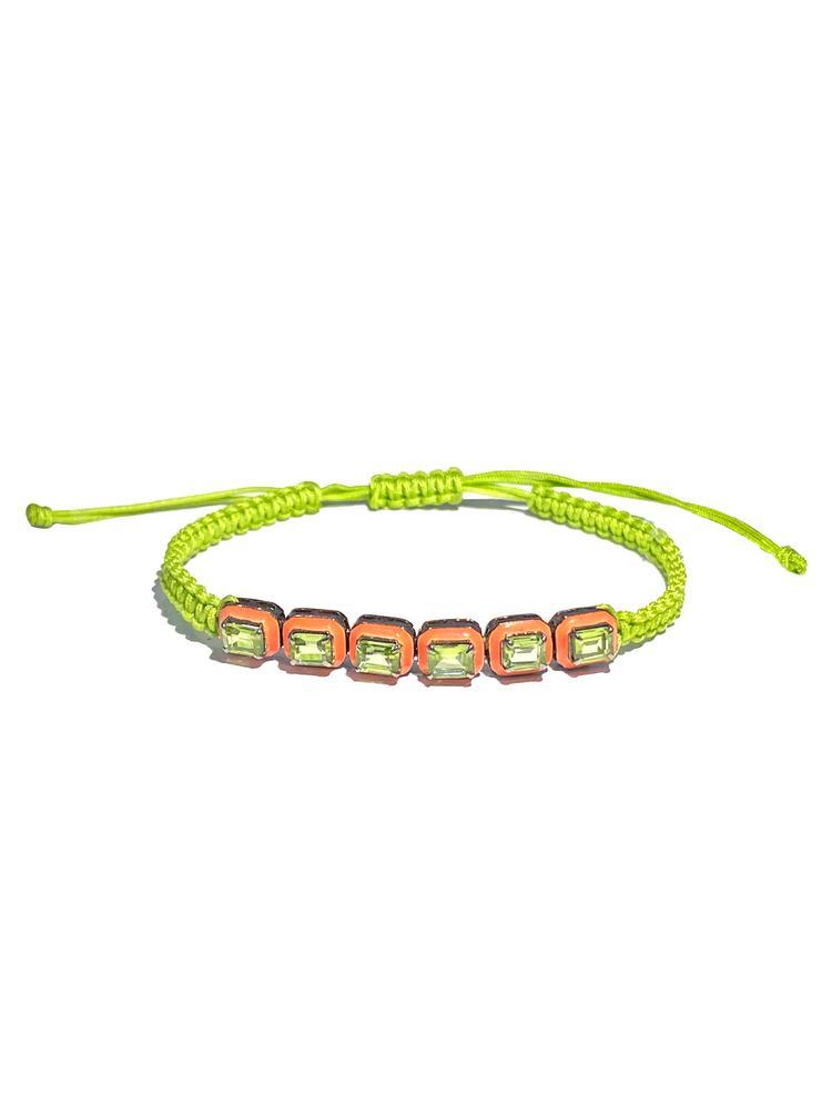 Braided Enamel Bracelet Item # BR3899-C