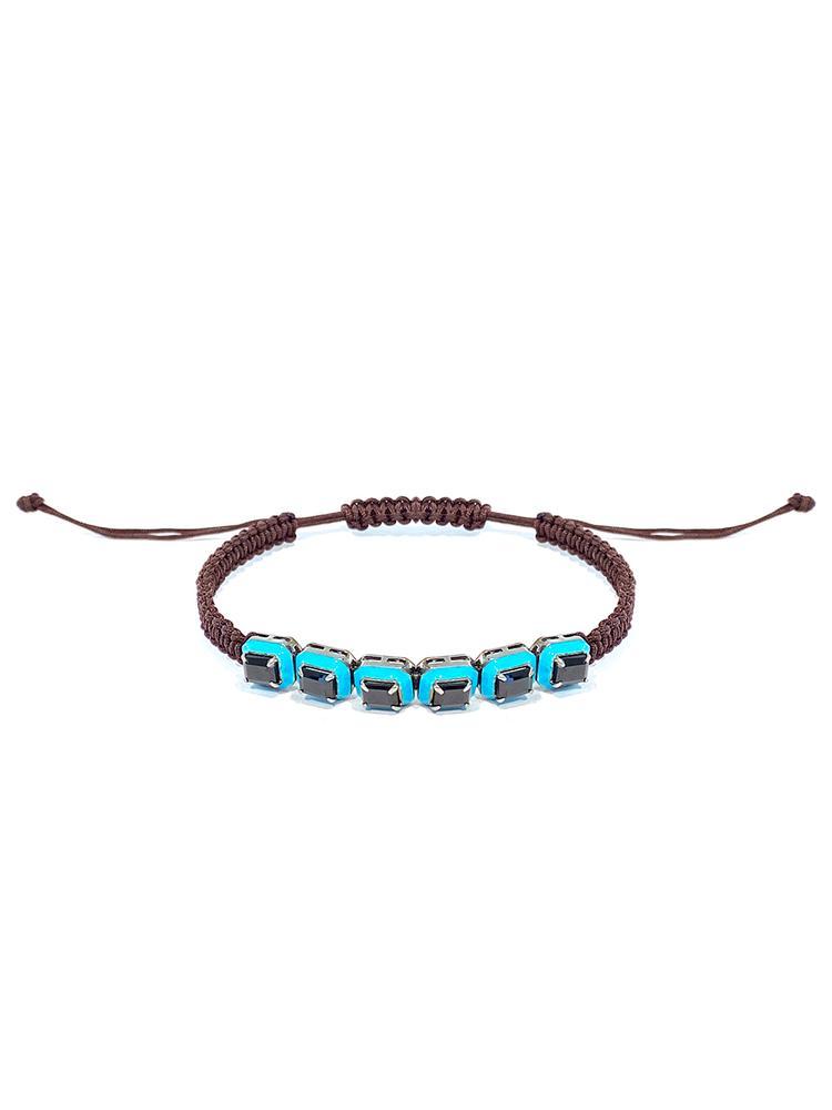 Braided Enamel Bracelet Item # BR3577-C