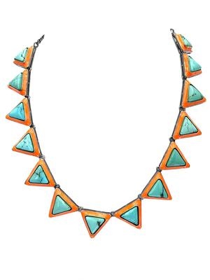 Turquoise and Enamel Necklace
