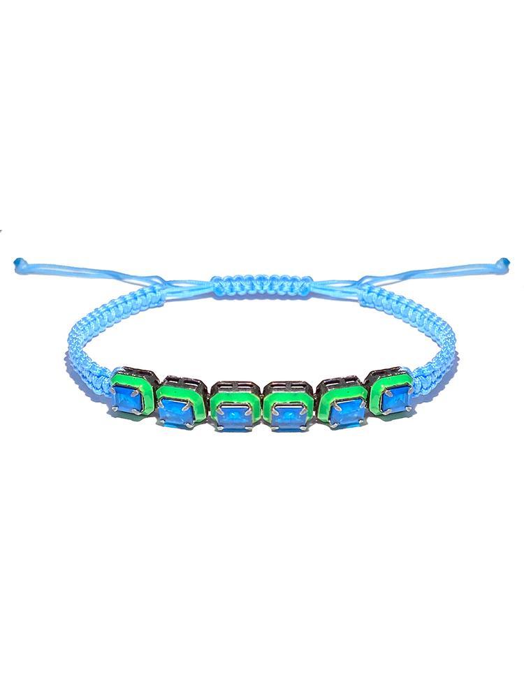Braided Enamel Bracelet Item # BR3574-C