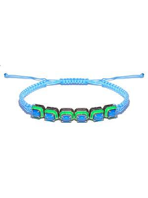 Braided Enamel Bracelet