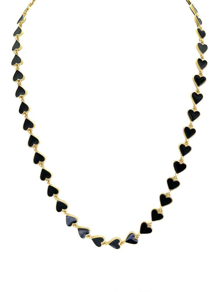 Heart Enamel Necklace Item # N4027-C