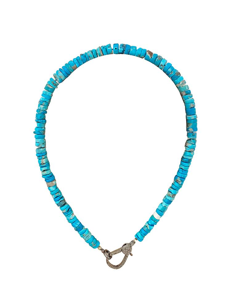 Turquoise And Diamond Necklace Item # N3887-C